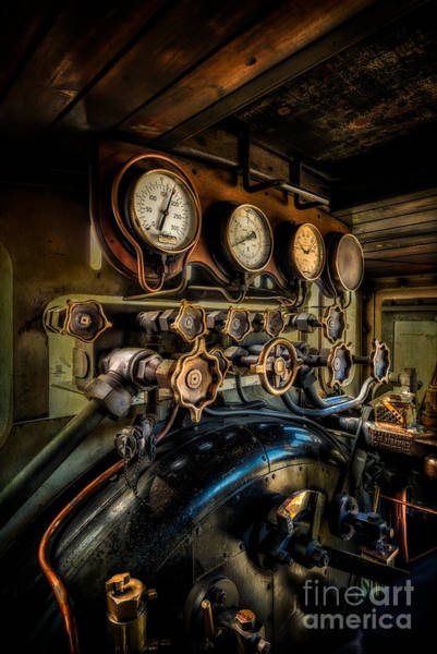 Steam Engine Photograph - Engine Room by Adrian Evans