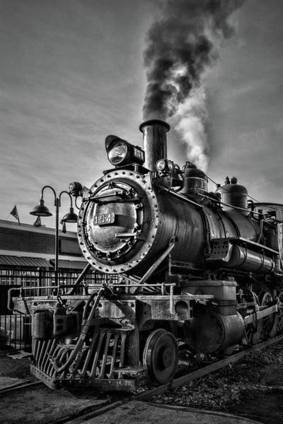 Photograph - Engine Steam Black And White by Sharon Popek
