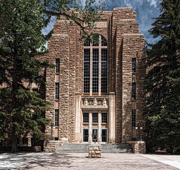 Laramie Photograph - Engineering Hall - University Of Wyoming by Mountain Dreams