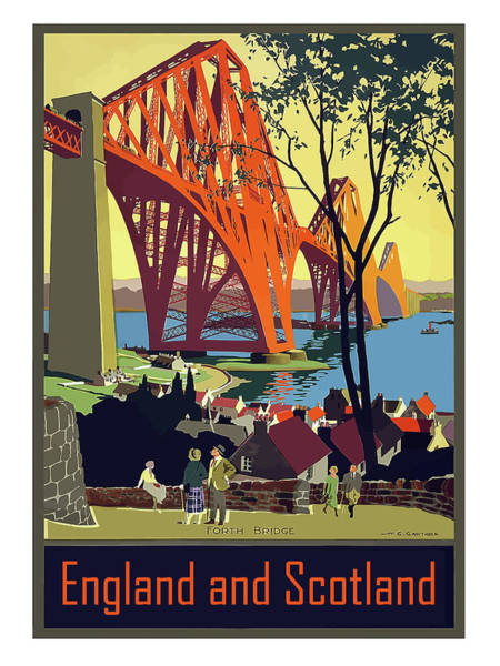 Railway Painting - England And Scotland, Bridge by Long Shot