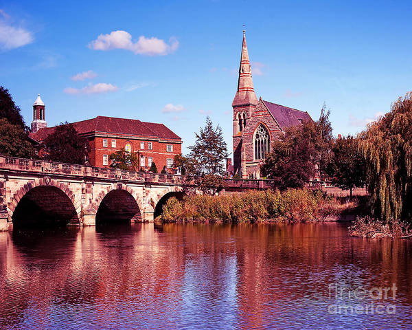 Wall Art - Photograph - English Bridge Over The Severn At Shrewsbury by Chris Smith