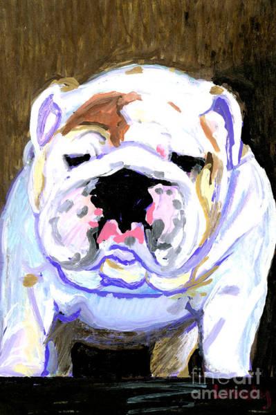 English Bulldog Painting - English Bulldog by Candace Lovely