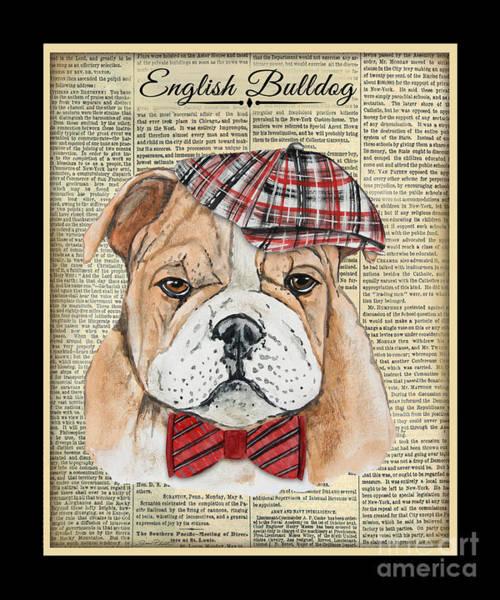 English Bulldog Painting - English Bulldog-jp3858 by Jean Plout