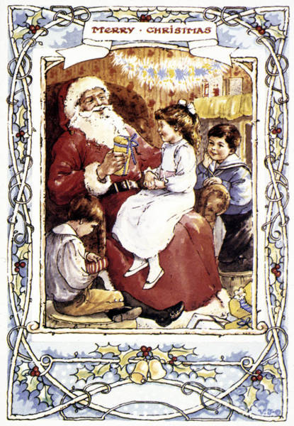 Photograph - English Christmas Card by Granger