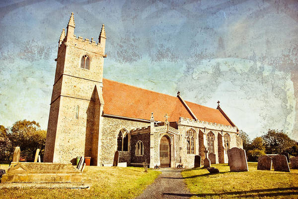 Church Yard Wall Art - Photograph - English Church by Tom Gowanlock