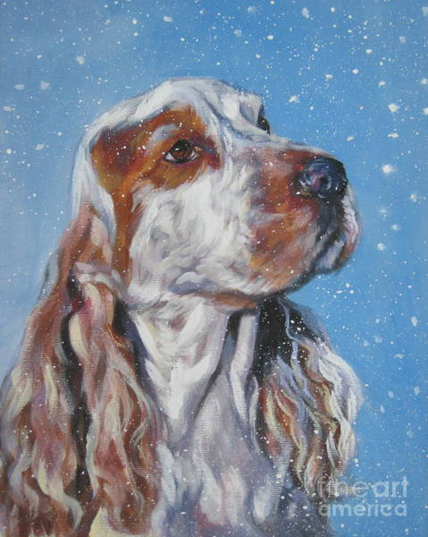 Cocker Spaniel Painting - English Cocker Spaniel In Snow by Lee Ann Shepard