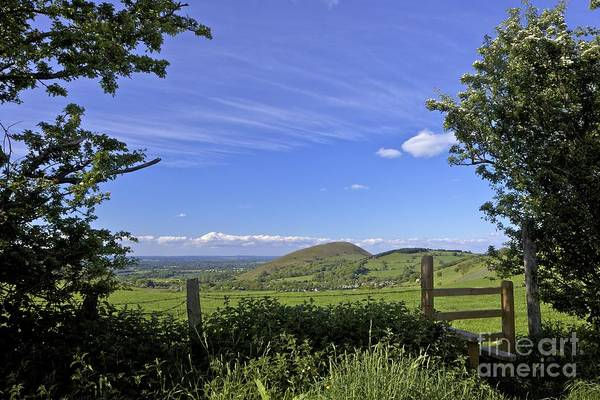 Church Stretton Wall Art - Photograph - English Countryside Near Cardington In Spring, Church Stretton Hills, Shropshire, England, Gb Uk by Peter Barritt