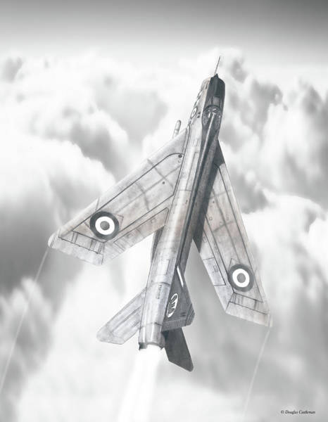 Drawing - English Electric Lightning F.1a by Douglas Castleman