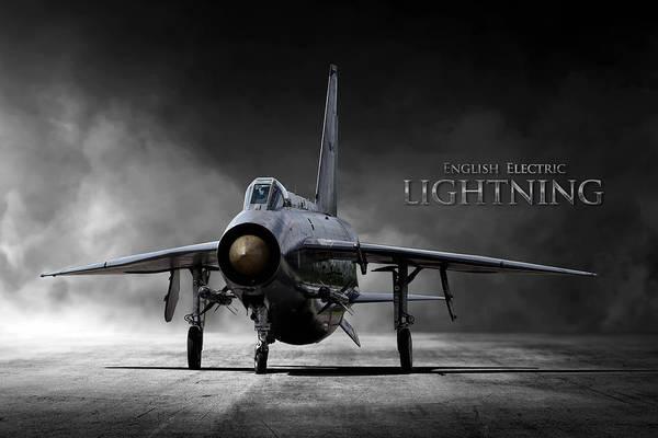 Lightning Digital Art - English Electric Lightning by Peter Chilelli