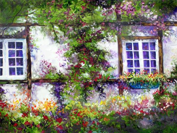Painting - English Garden Cottage by Marcia Baldwin