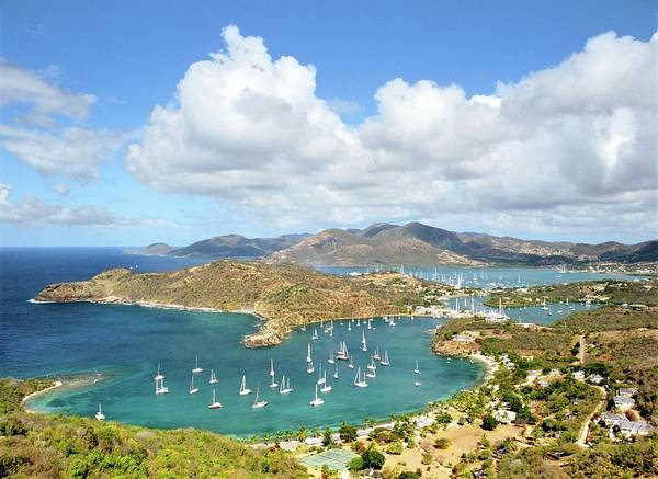 Shirleys Bay Photograph - English Harbour And Nelsons Dockyard From Shirley Heights, Antigua by David Lyons