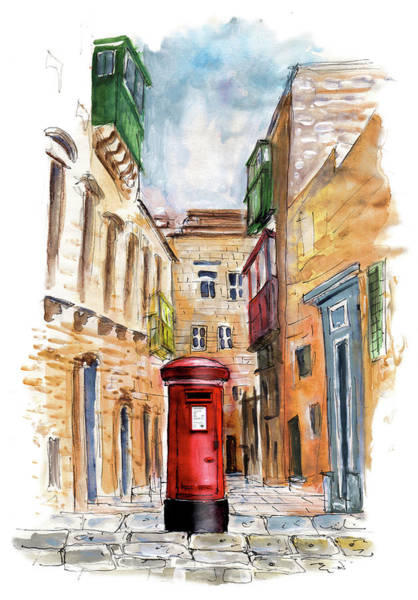 Painting - English Letter Box In Valletta by Miki De Goodaboom