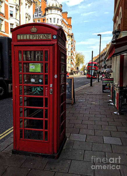 Photograph - Old English Red Phone Box by Doc Braham