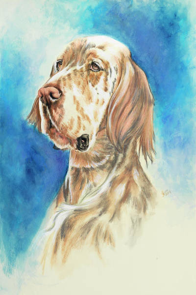 Painting - English Setter In Watercolor by Barbara Keith