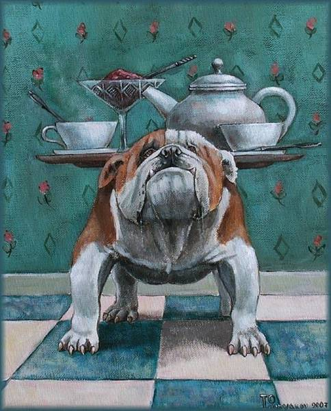 Sascha Wall Art - Painting - English Tea by Sascha Lunyakov