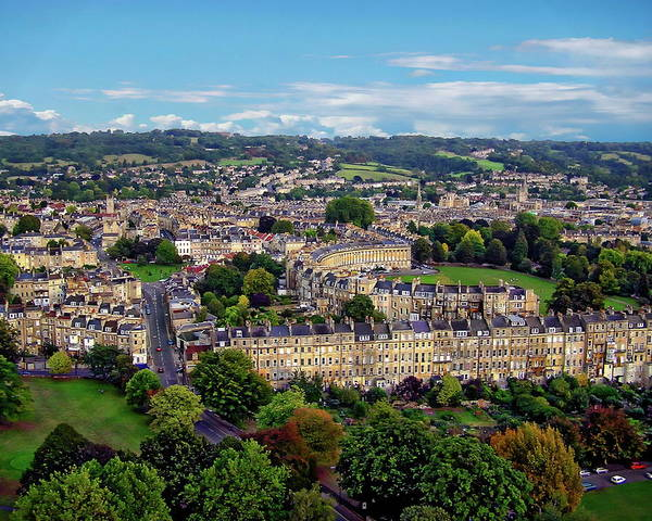 Photograph - English Townscape View by Anthony Dezenzio