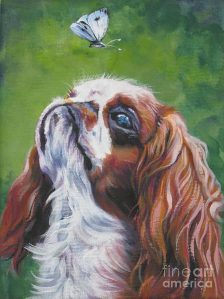 King Charles Spaniel Painting - English Toy Spaniel by Lee Ann Shepard