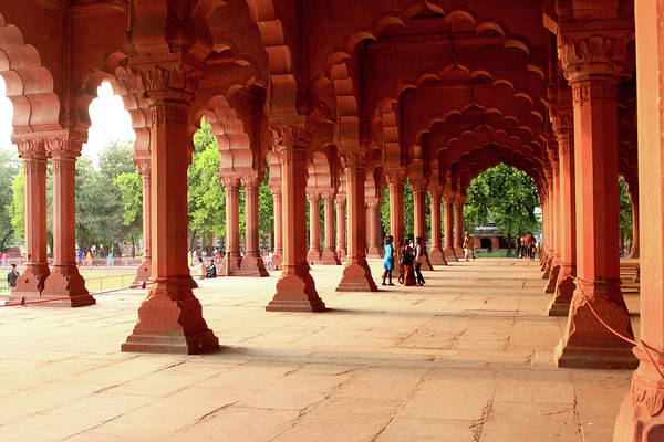 Photograph - Engrailed Arches At The Red Fort. New Delhi, India by Aidan Moran