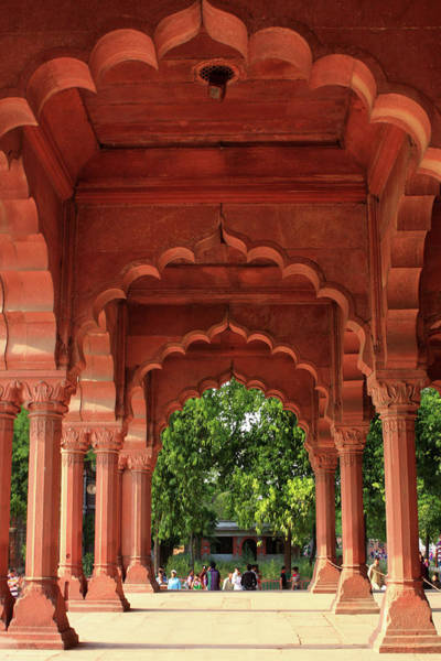 Photograph - Engrailed Arches, Red Fort, New Delhi, India by Aidan Moran
