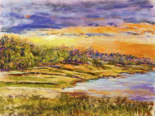 Painting - Enid Shore Sunrise by Barry Jones