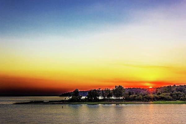 Photograph - Enid Sunset by Barry Jones