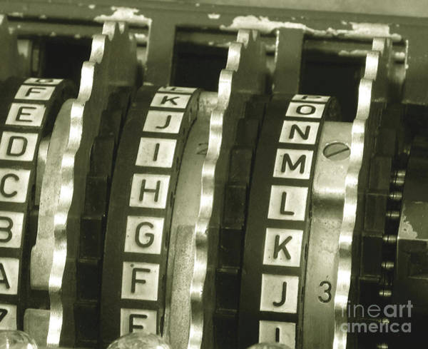 Cracker Photograph - Enigma Cipher Machine by English School