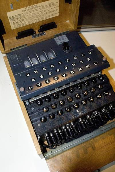 Alan Turing Wall Art - Photograph - Enigma Code Machine by Mark Williamson