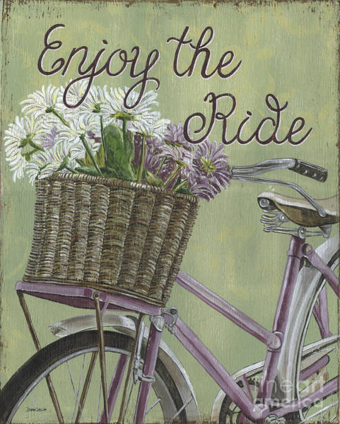 Biker Wall Art - Painting - Enjoy The Ride by Debbie DeWitt