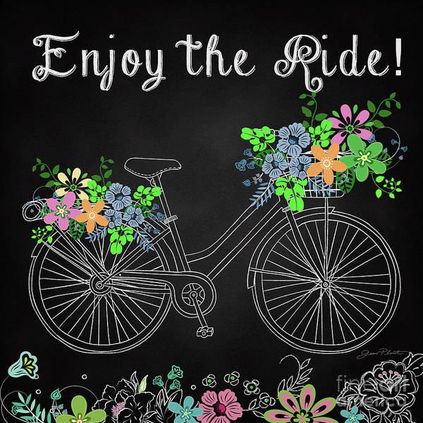 Flowers Bike Wall Art - Painting - Enjoy The Ride-jp3929 by Jean Plout