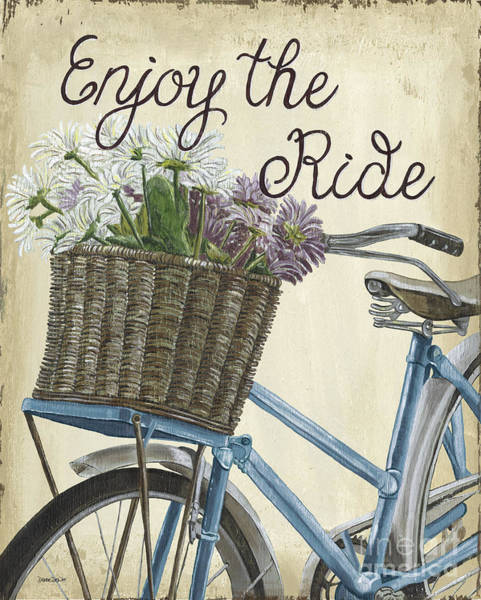 Wall Art - Painting - Enjoy The Ride Vintage by Debbie DeWitt