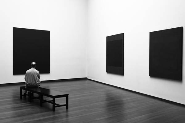 Museum Photograph - Enjoying Rothko by Art Lionse