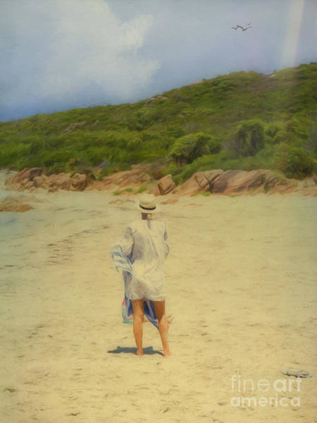 Photograph - Enjoying The Beach by Elaine Teague