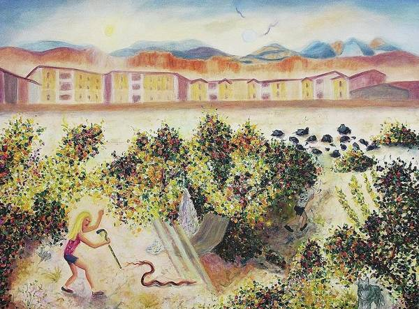 Leclair Painting - Enjoying The Desert by Suzanne  Marie Leclair