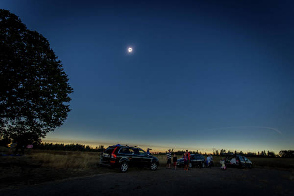 Photograph - Enjoying The Solar Eclipse by Marc Crumpler