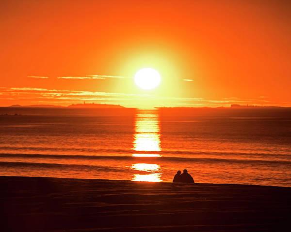 Photograph - Enjoying The Sunrise On Hampton Beach Hampton Beach Nh by Toby McGuire