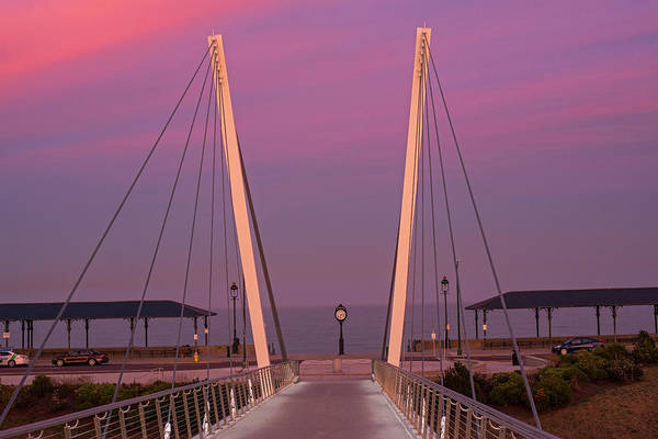 Photograph - Enjoying The Sunset On Revere Beach Revere Ma Bridge by Toby McGuire