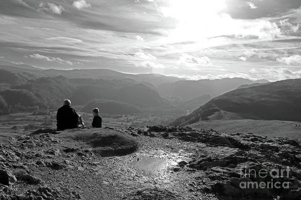 Photograph - Enjoying The View From Cat Bells Cumbria by Julia Gavin