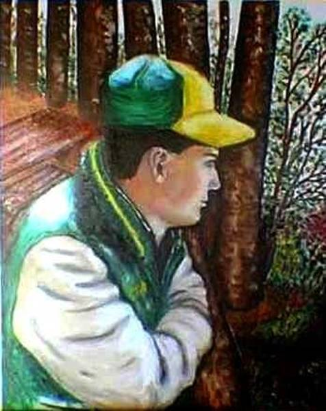 My Son Painting - Enjoyment Of Nature by Tanna Lee M Wells