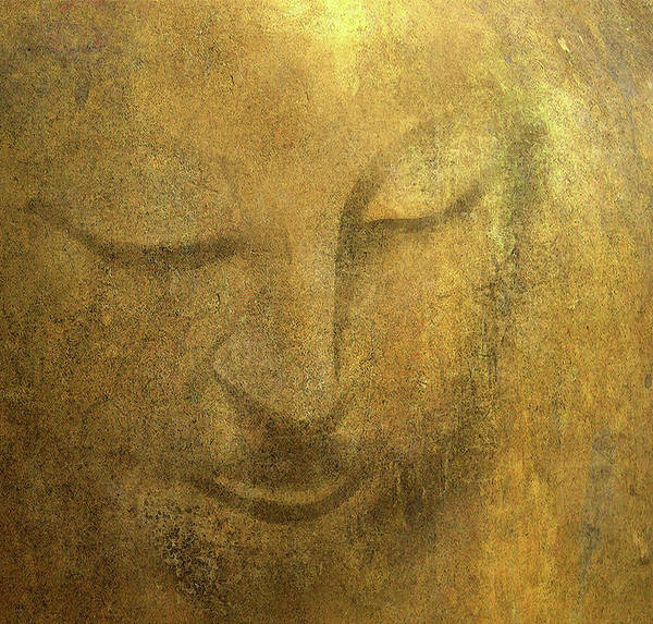 Dzogchen Painting - Enlightened Buddha Face by Stephen Humphries