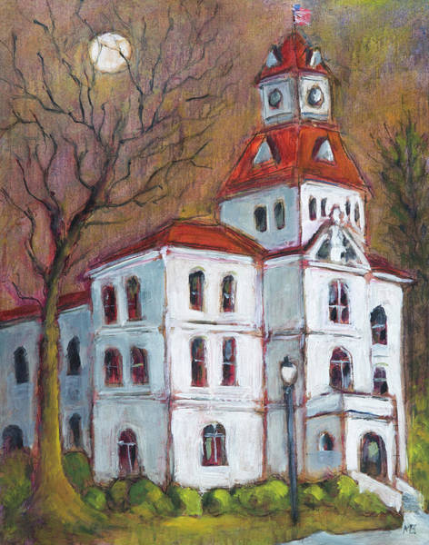 Courthouse Falls Painting - Enlightened Courthouse by Mike Bergen