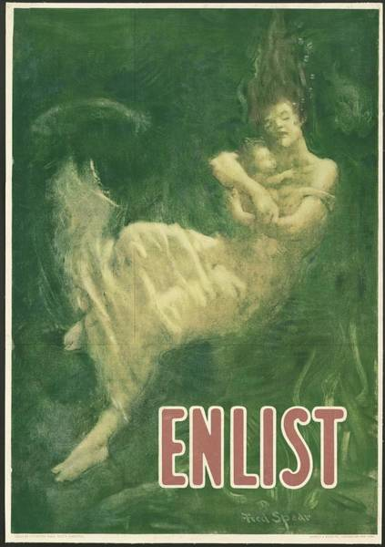 Wall Art - Mixed Media - Enlist Lusitania 1916 by Movie Poster Prints