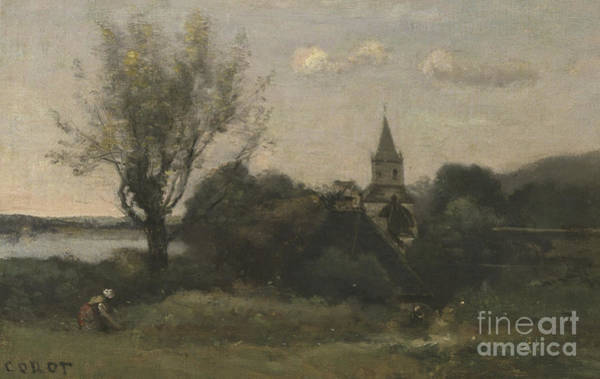 Wall Art - Painting - Ennery Near Auvers by Jean Baptiste Camille Corot