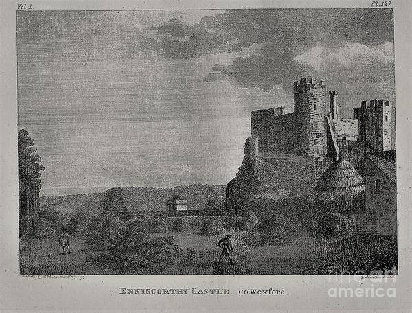 Mixed Media - F 800  Enniscorthy Castle, 1792ad by Val Byrne