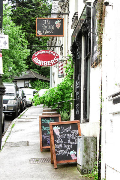 Photograph - Mens Barbers Shop In Enniskerry Village - Doc Braham - All Rights Reserved by Doc Braham
