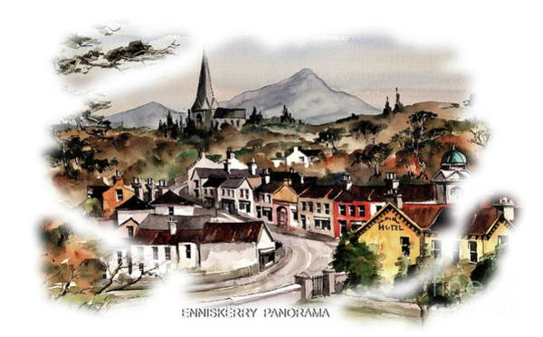 Painting - Enniskerry Panorama 2 by Val Byrne