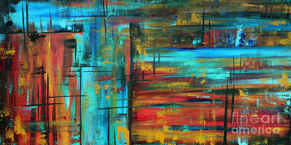 Wall Art - Painting - Enormous 3x5 Abstract Art Huge Original Contemporary Painting Into Autumn By Madart by Megan Duncanson