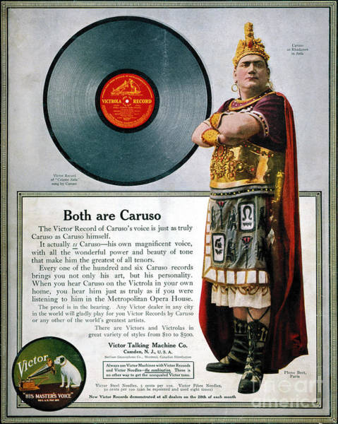 Photograph - Enrico Caruso (1873-1921) by Granger