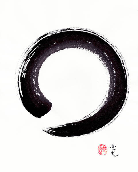 Painting - Enso - Embracing Imperfection by Oiyee At Oystudio
