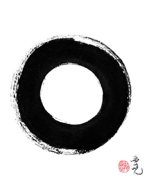 Painting - Enso - Pursuing Perfection by Oiyee At Oystudio