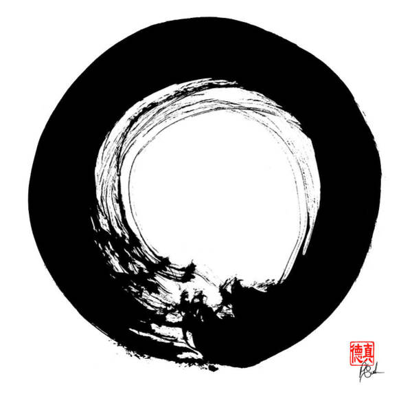 Painting - Enso / Zen Circle 14 by Peter Cutler